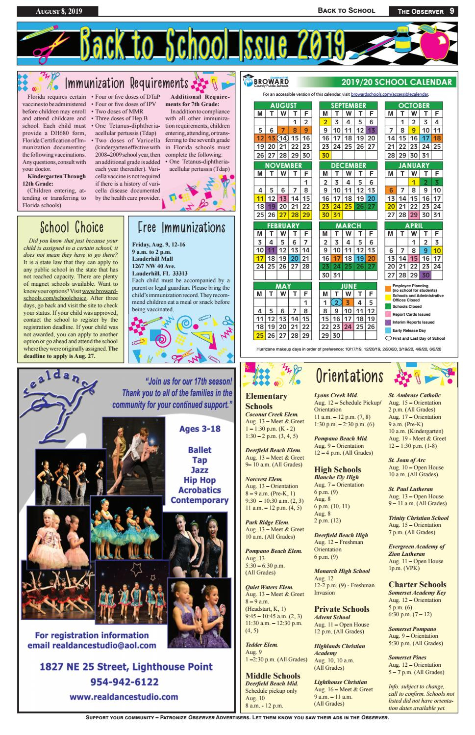 Back 2 School By Observer  Issuu pertaining to Monarch Christian School Calendar