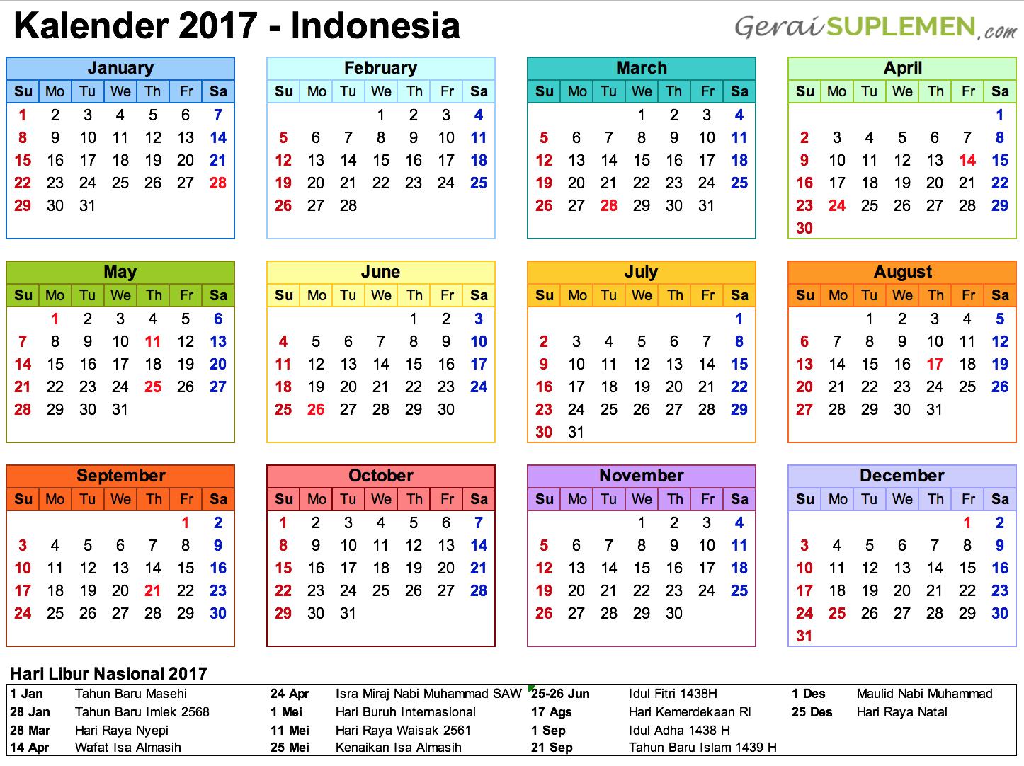 Bagi Anda Yang Ingin Merencanakan Perjalanan Di Tahun 2017 intended for Kalendar Tahun 2020