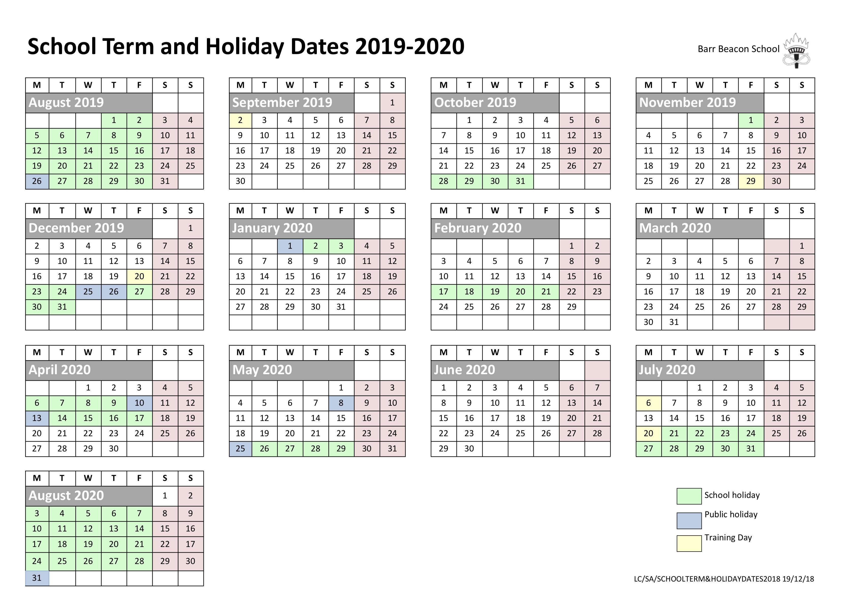 Barr Beacon School » Calendar with Barr Beacon Calendar