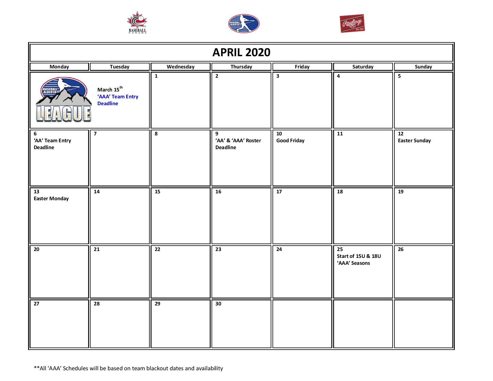 Baseball Alberta : Website By Ramp Interactive throughout Jh Picard Calendar