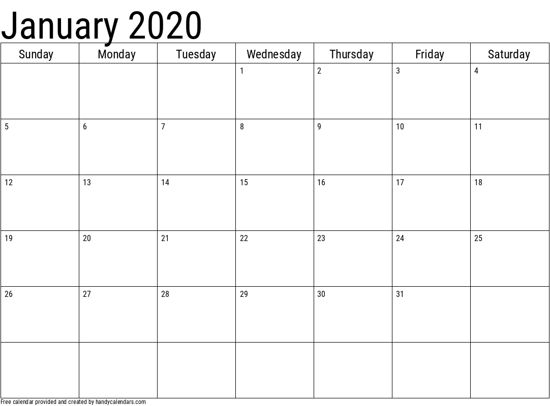 Basic 2020 And 2021 Calendar Templates  Handy Calendars in Calendar 2020 January