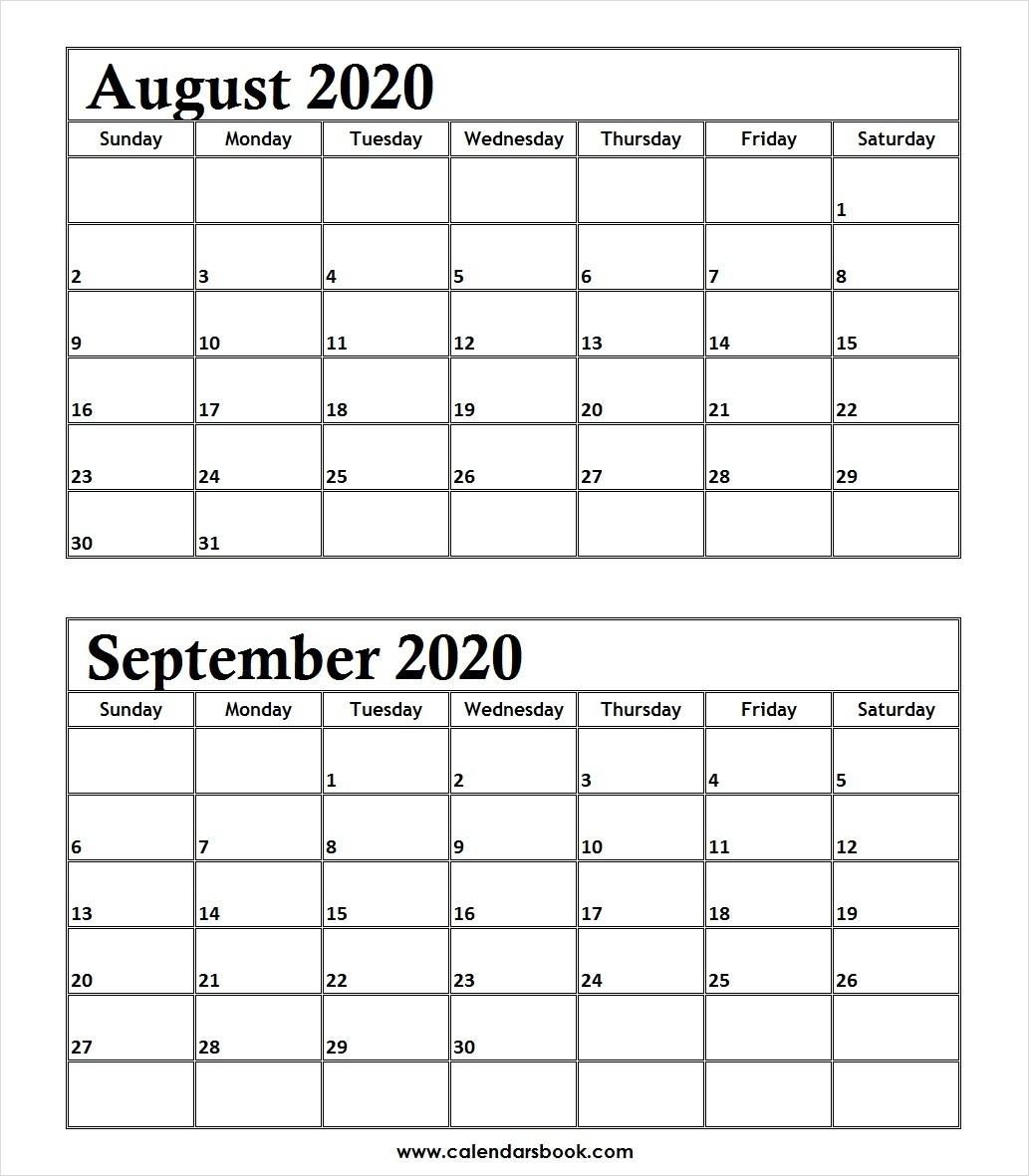 Behavior Weekly Calendar Template Free | Example Calendar throughout August 2020 And September 2020 Calendar