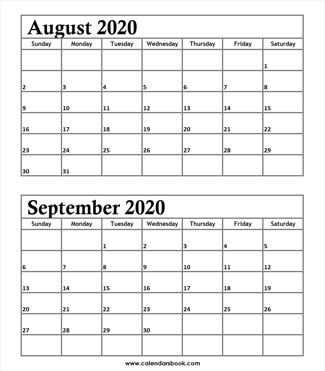 Behavior Weekly Calendar Template Free | Example Calendar with Calender August And September 2020