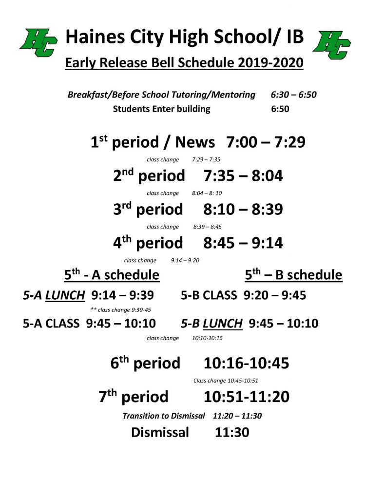 Bell Schedule – Haines City High School with Haines City Bell Schedule