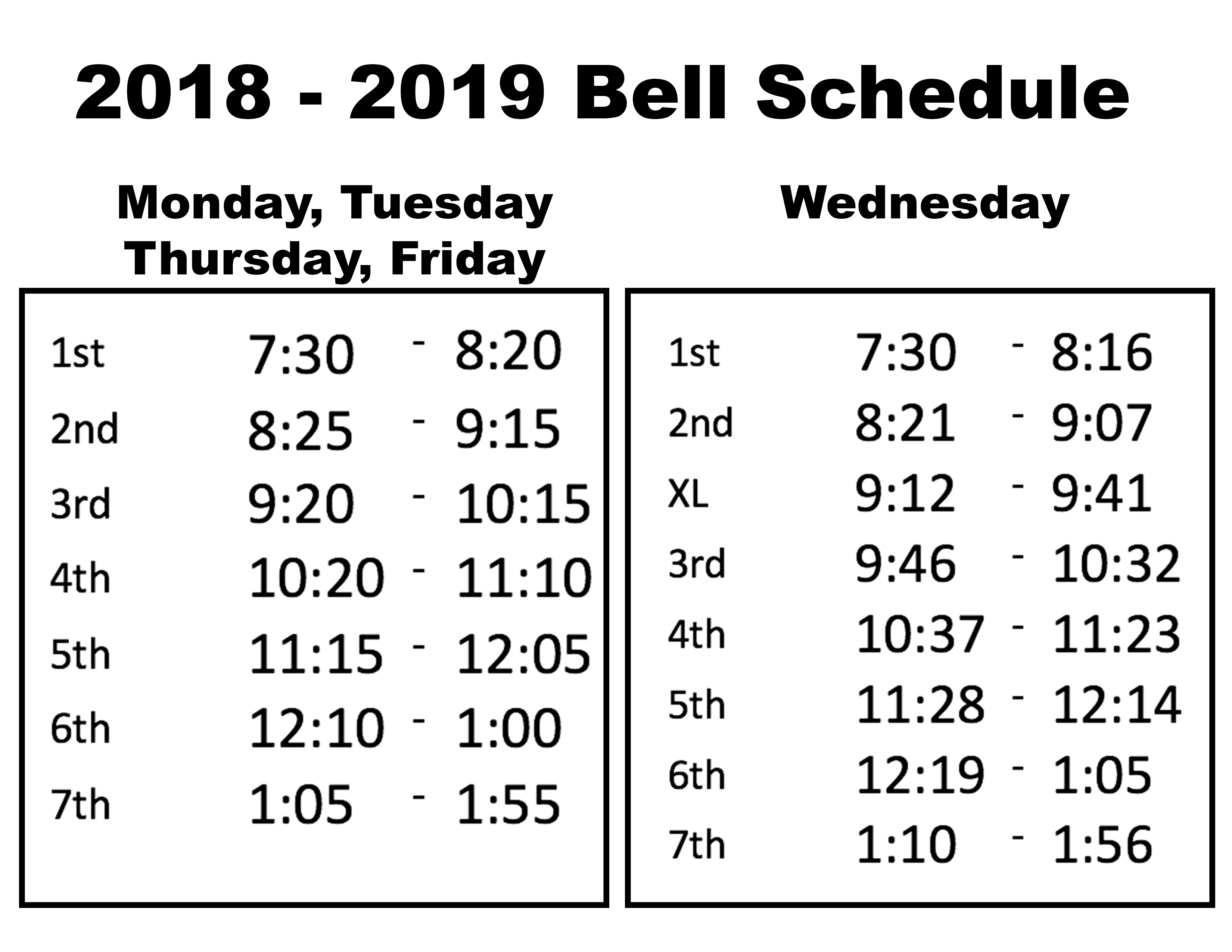 Bell Schedules 2018 – 2019 | Sunlake High School with Haines City High School Bell Schedule