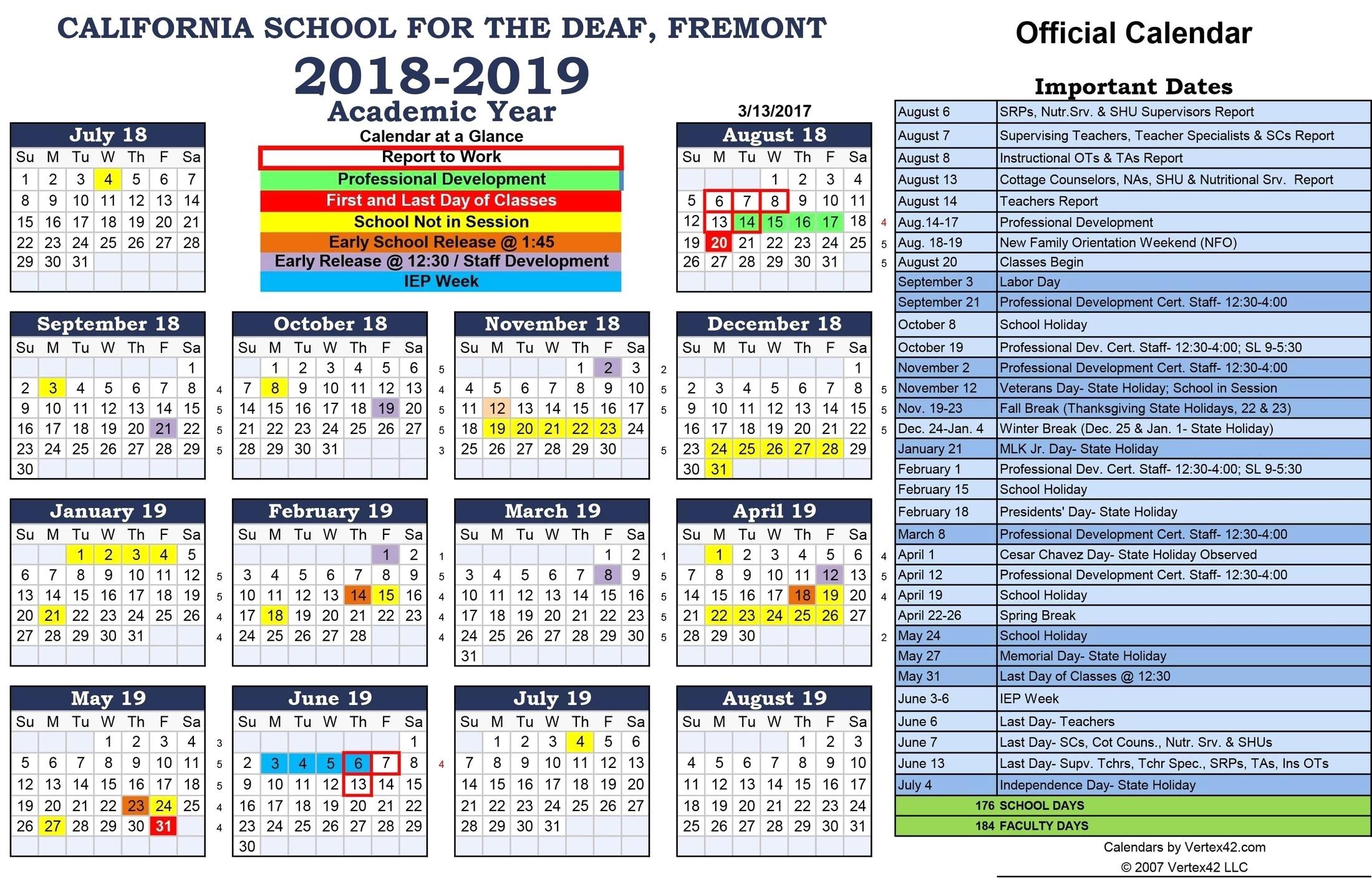 Berkeley Academic Calender 20192020  Calendar Inspiration throughout Uc Berkeley Academic Calendar 2017