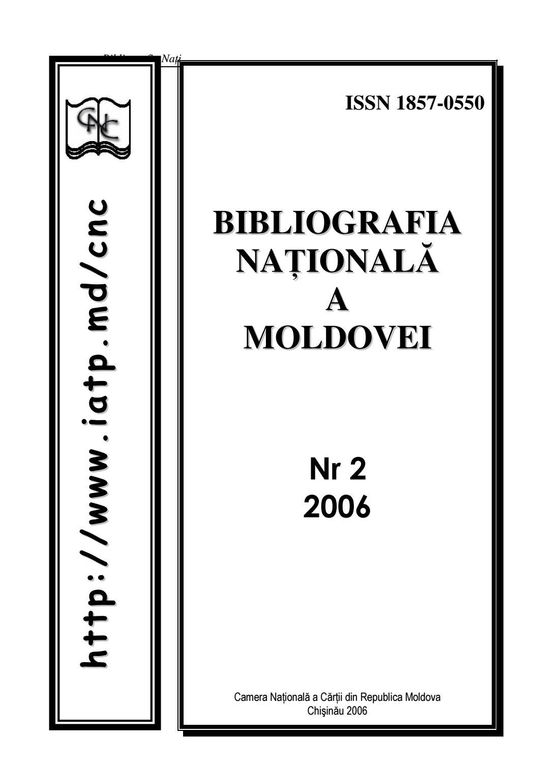 Bibliografia Nationala A Moldovei Nr 22006 By Agentia in Calendar Lunar De Frumusete