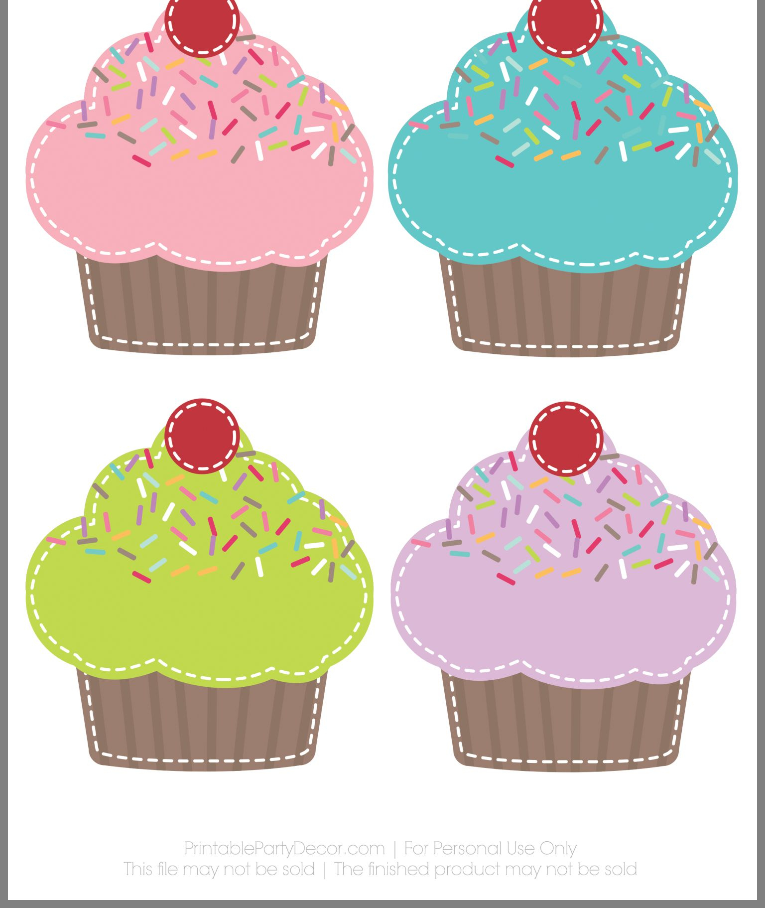 Birthday Cupcake Template  Yatay.horizonconsulting.co in Cupcake Birthday Chart