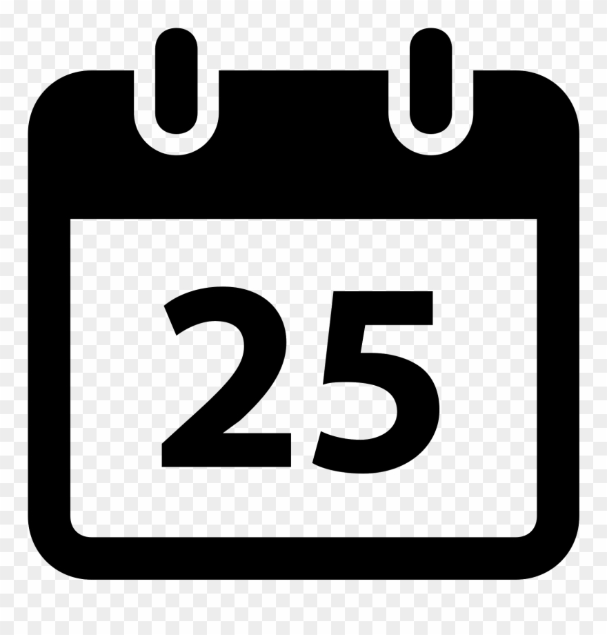 Blackwhite Android Calendar  26 Icon Clipart (#1665478 regarding Calendar Icon Android