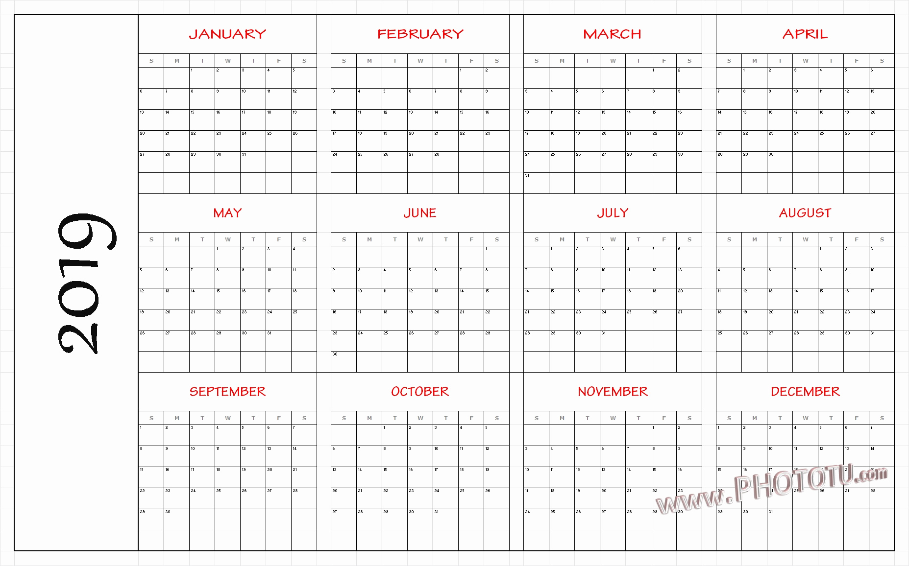 Blank 12 Month Calendar  Yatay.horizonconsulting.co pertaining to Printable 12 Month Calendar On One Page