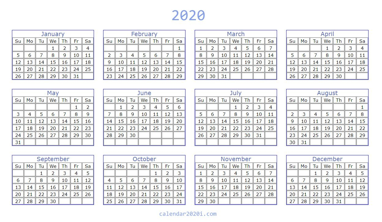 Blank 2020 Calendar Printable Templates | Calendar 2020 pertaining to Blank 6 Month Calendar