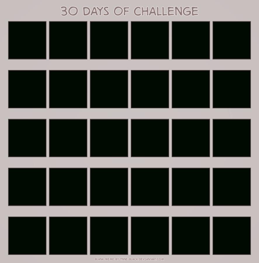 Blank 30 Day Calendar within 30 Day Calendar Blank