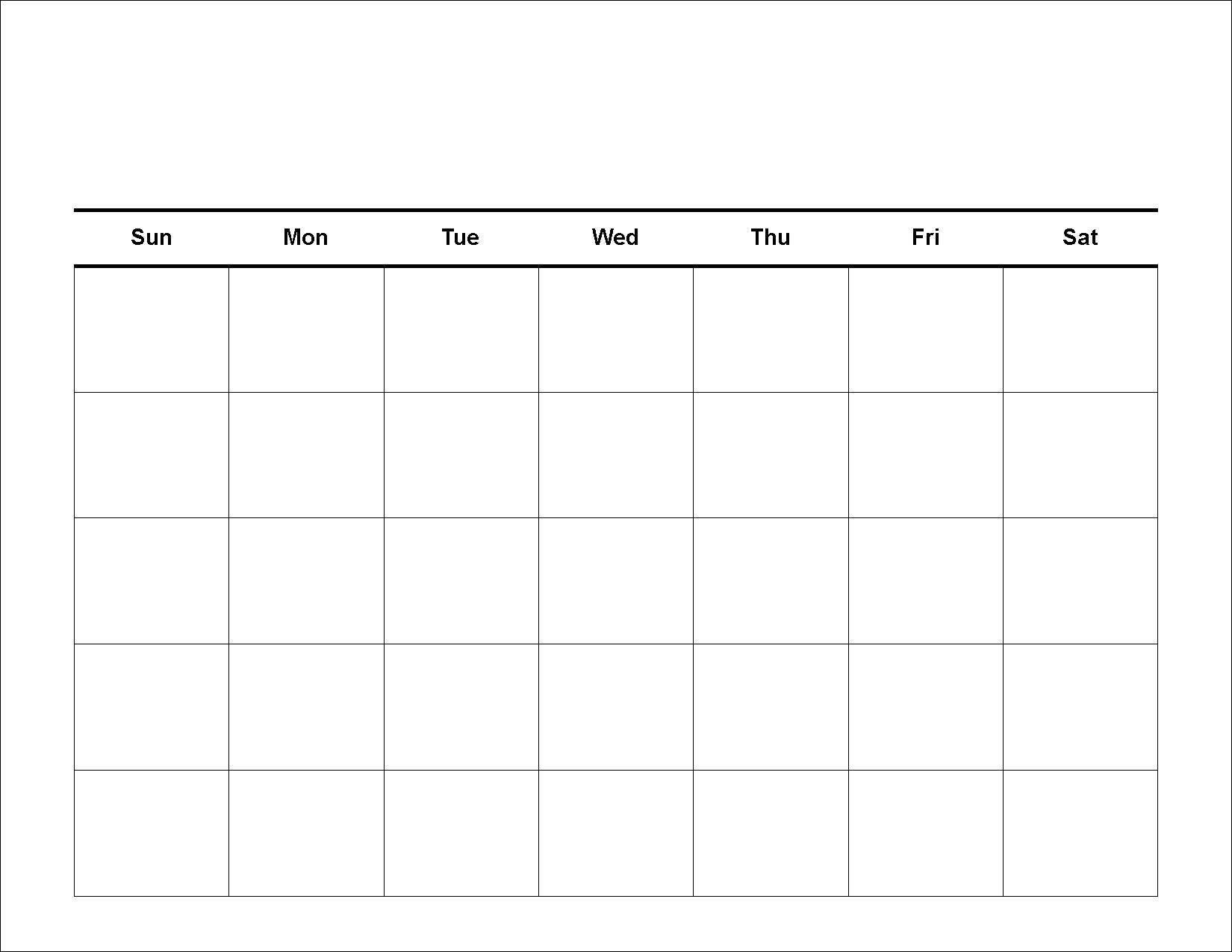 Blank 4 Week Calendar Printable  Calendar Inspiration Design regarding Printable Blank Weekly Calendar
