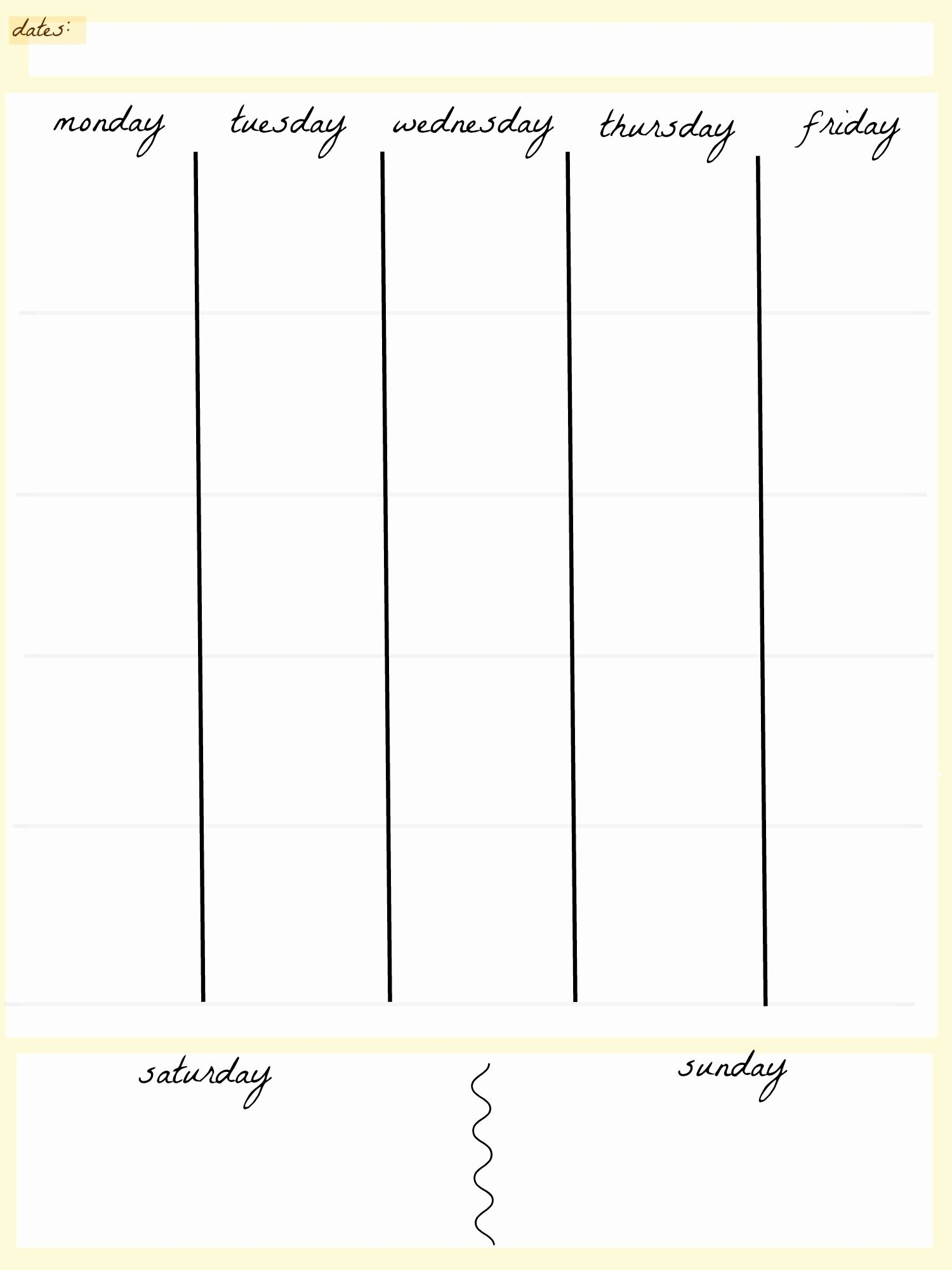 Blank Calendar 5 Day Week | Blank Calendar Template Dowload in 5 Day Weekly Calendar Template
