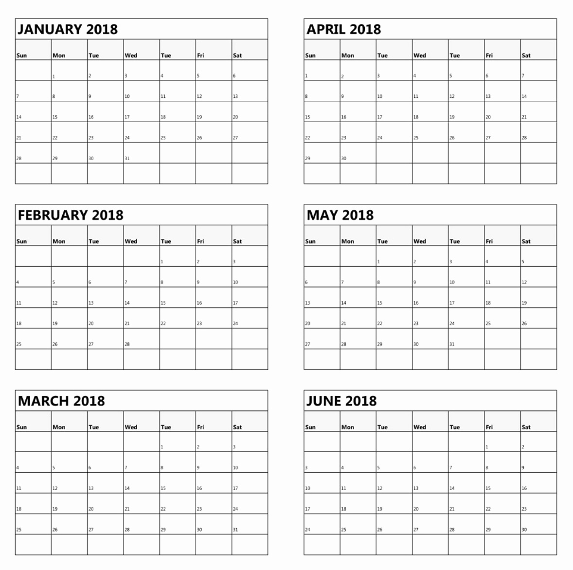 Blank Calendar 6 Months | One Page Calendar Printableprint for Printable 6 Month Calendar