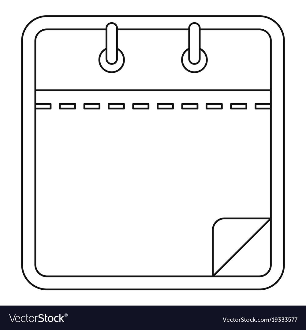 Blank Calendar Icon Outline Style throughout Blank Calendar Icon