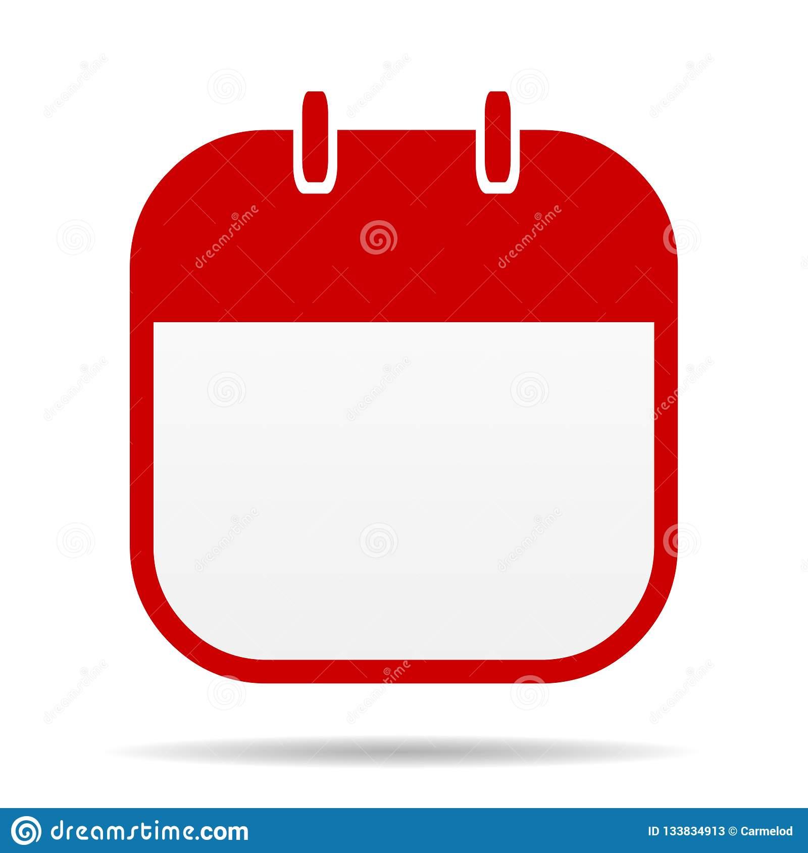 Blank Calendar Icon Stock Illustration. Illustration Of inside Blank Calendar Icon