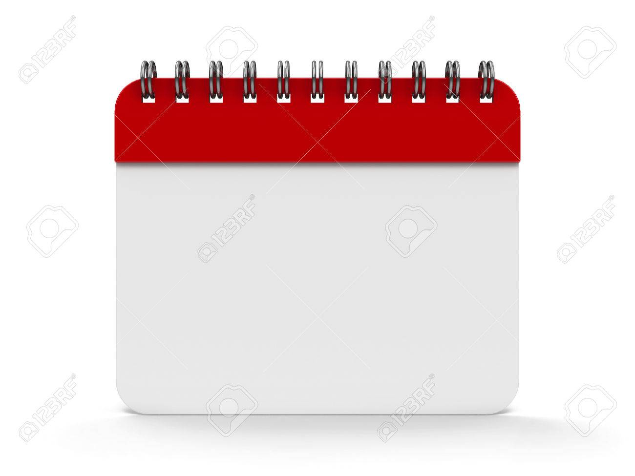 Blank Calendar Icon With Spiral, Threedimensional Rendering intended for Blank Calendar Icon