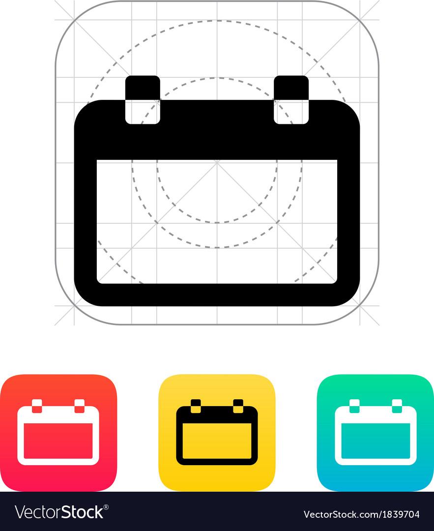 Blank Calendar Icon within Blank Calendar Icon