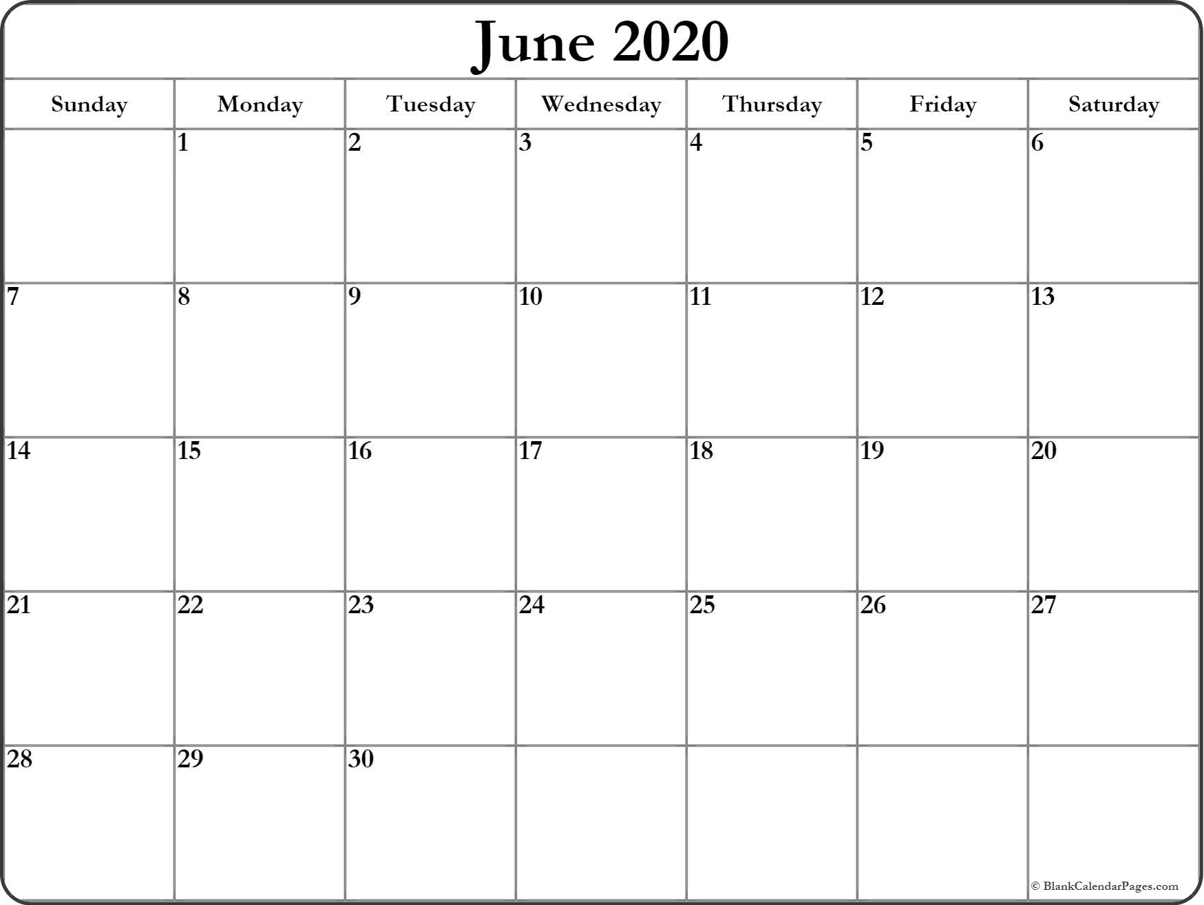Blank Calendar Pages 2020  Yatay.horizonconsulting.co in 2020 Blank Calendar Pages