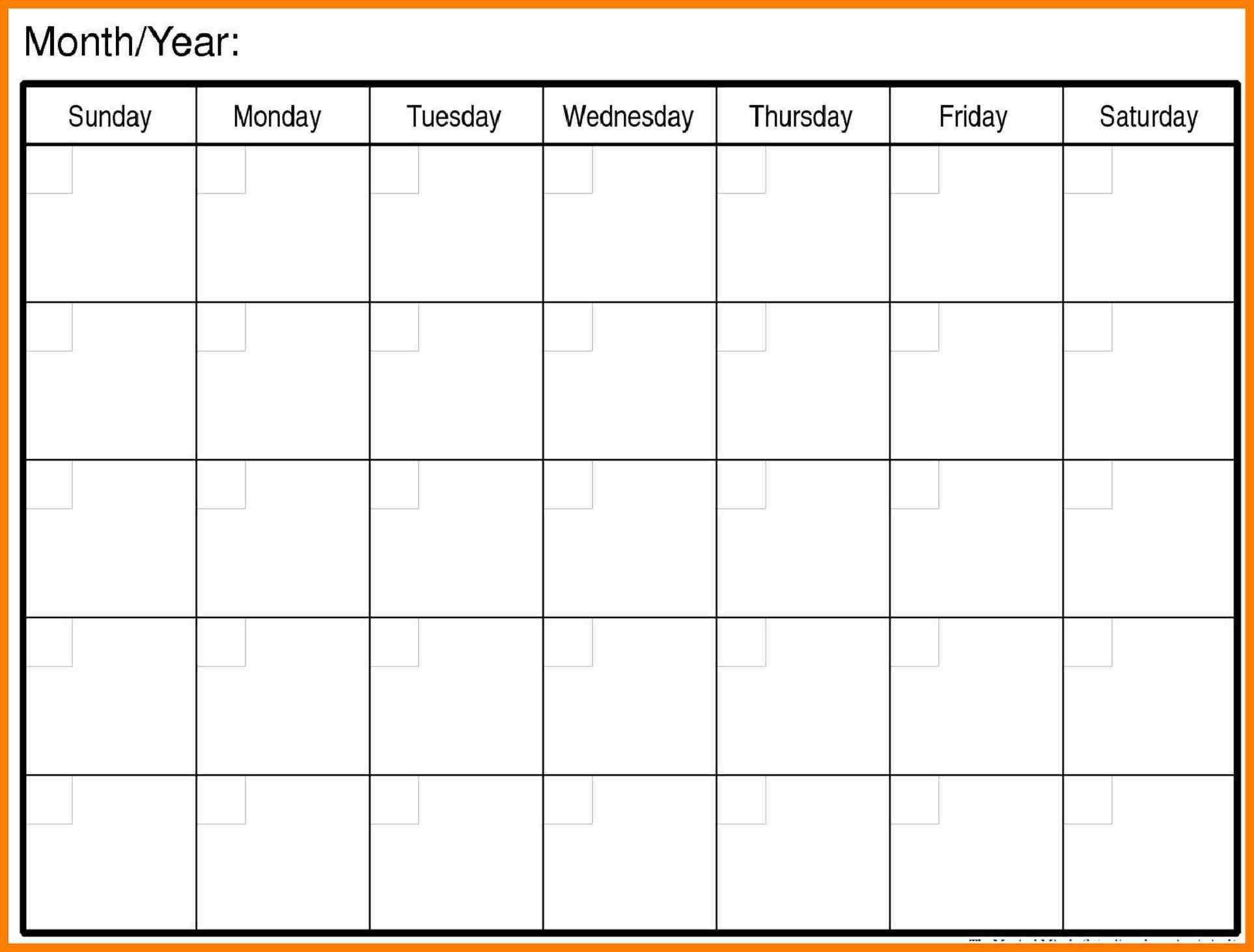 Blank Calendar Template Word | Blank Calendar Template inside Blank Calendar Template Word