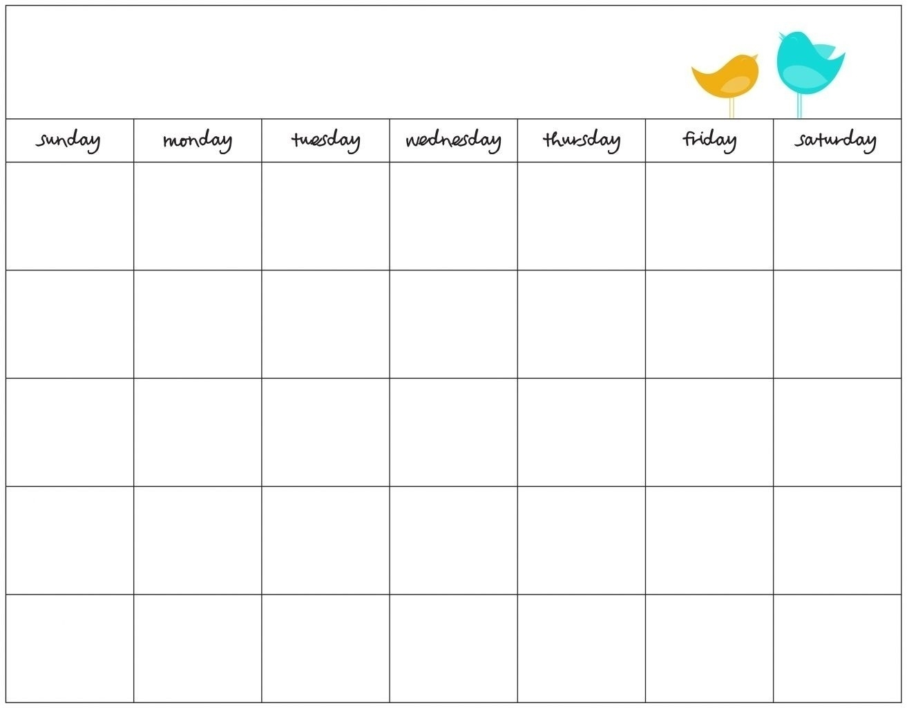 Blank Days Of The Week Calendar | Example Calendar Printable for Printable Week Calendar