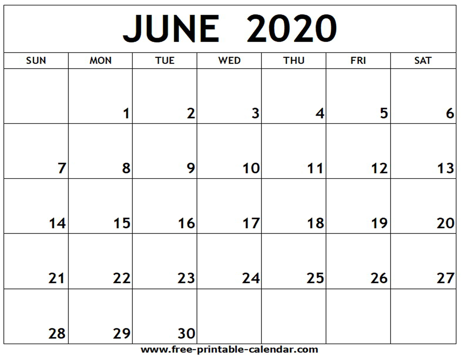Blank July 2020 Calendar  Bolan.horizonconsulting.co throughout Printable June 2020 Calendar