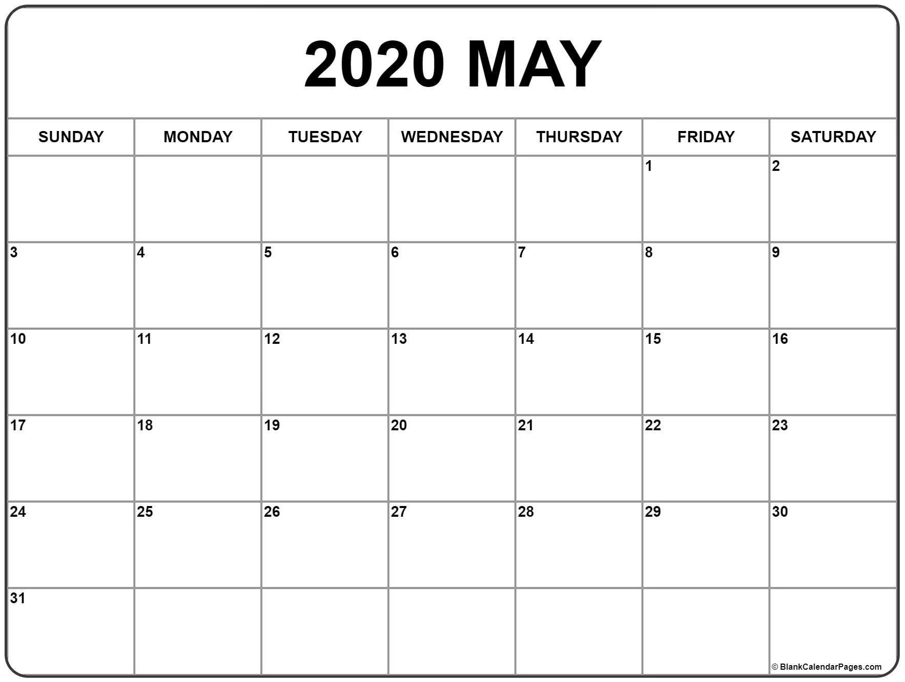 Blank May 2020 Calendar Printable Beta Calendars May 2020 pertaining to December 2020 Calendar Beta Calendars