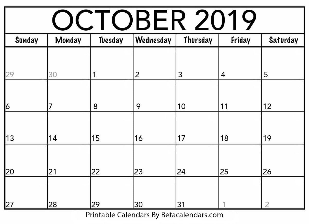 Blank October 2019 Calendar | Backyard Waterfalls | 2019 inside November 2020 Calendar Beta Calendars
