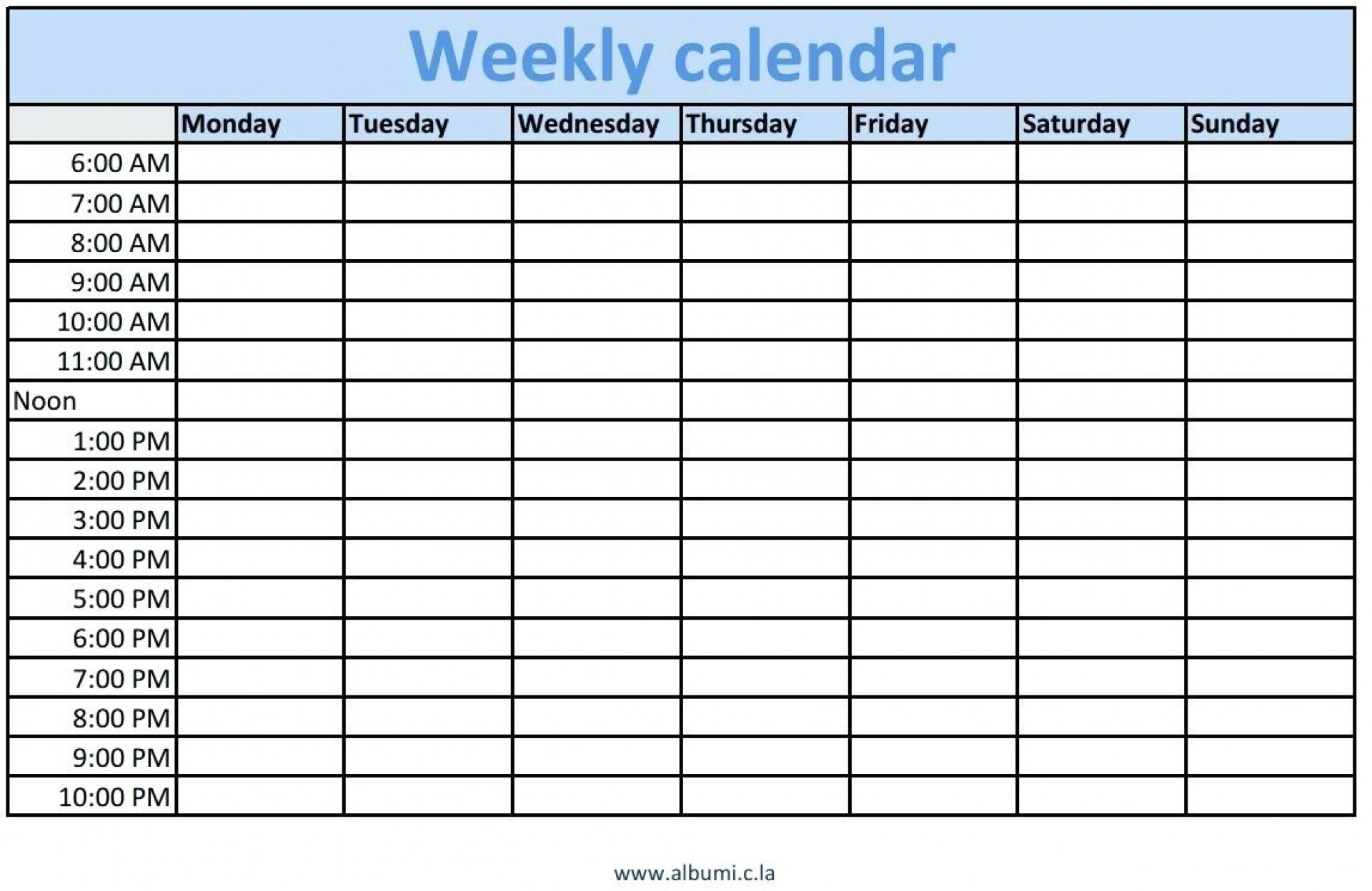 Blank Schedule Template With Time Slots | Example Calendar pertaining to Daily Calendar With Time Slots Printable
