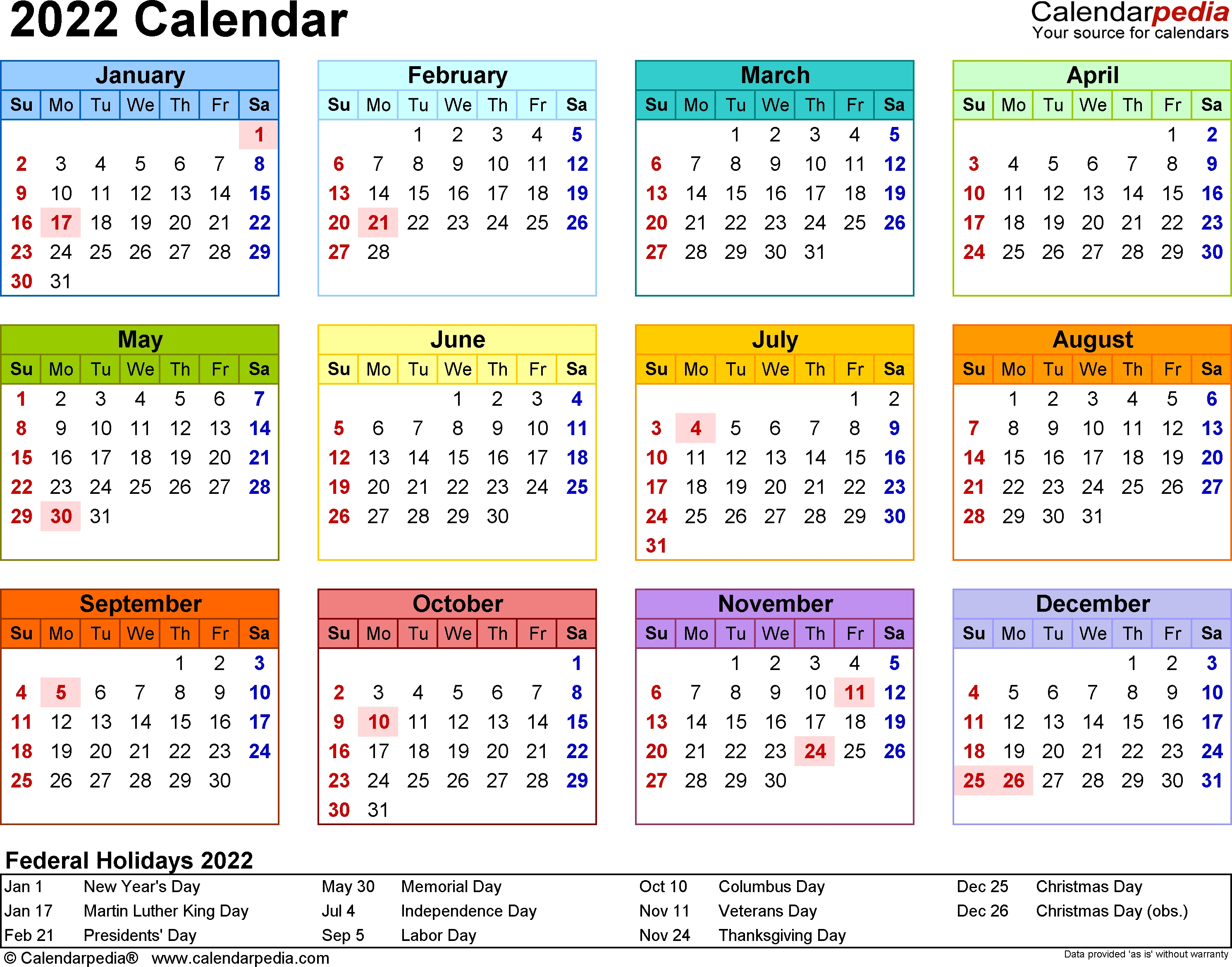Blank Year Long Calendar 2022 | Example Calendar Printable with Year Long Calendar Template