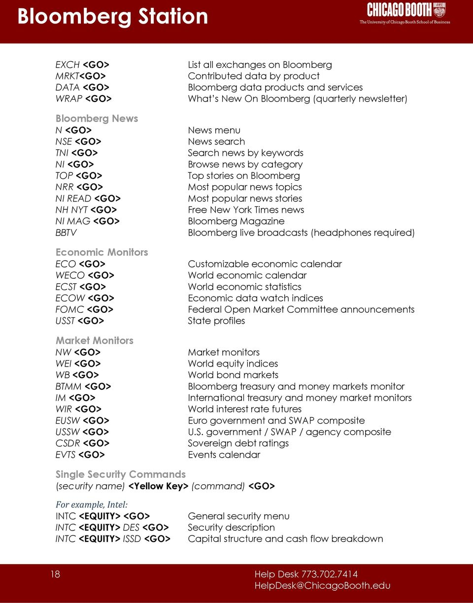 Bloomberg Station. Reference Guide  Pdf Free Download for Economic Calendar Bloomberg