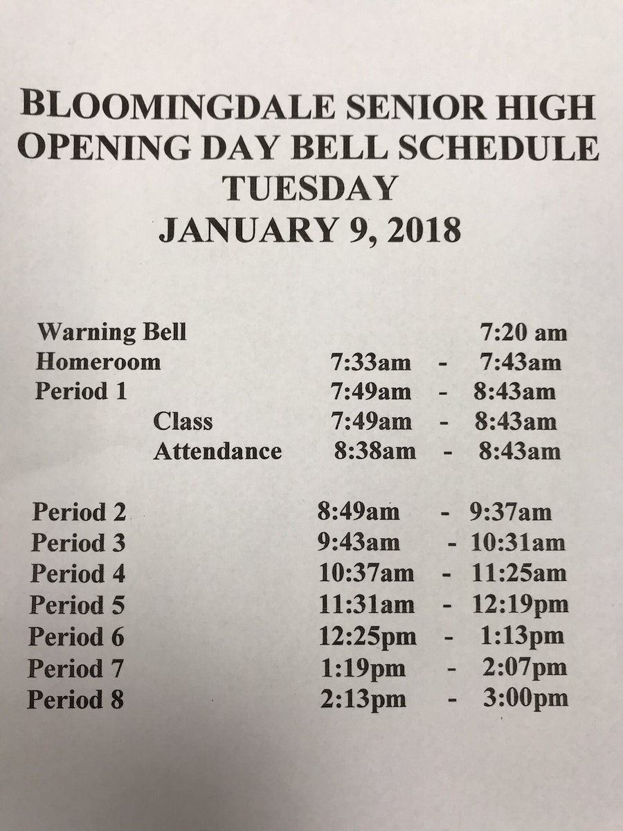 "Bloomingdale Hs On Twitter: ""welcome Back Bulls!🤘🏽 Here's throughout Haines City High School Bell Schedule"