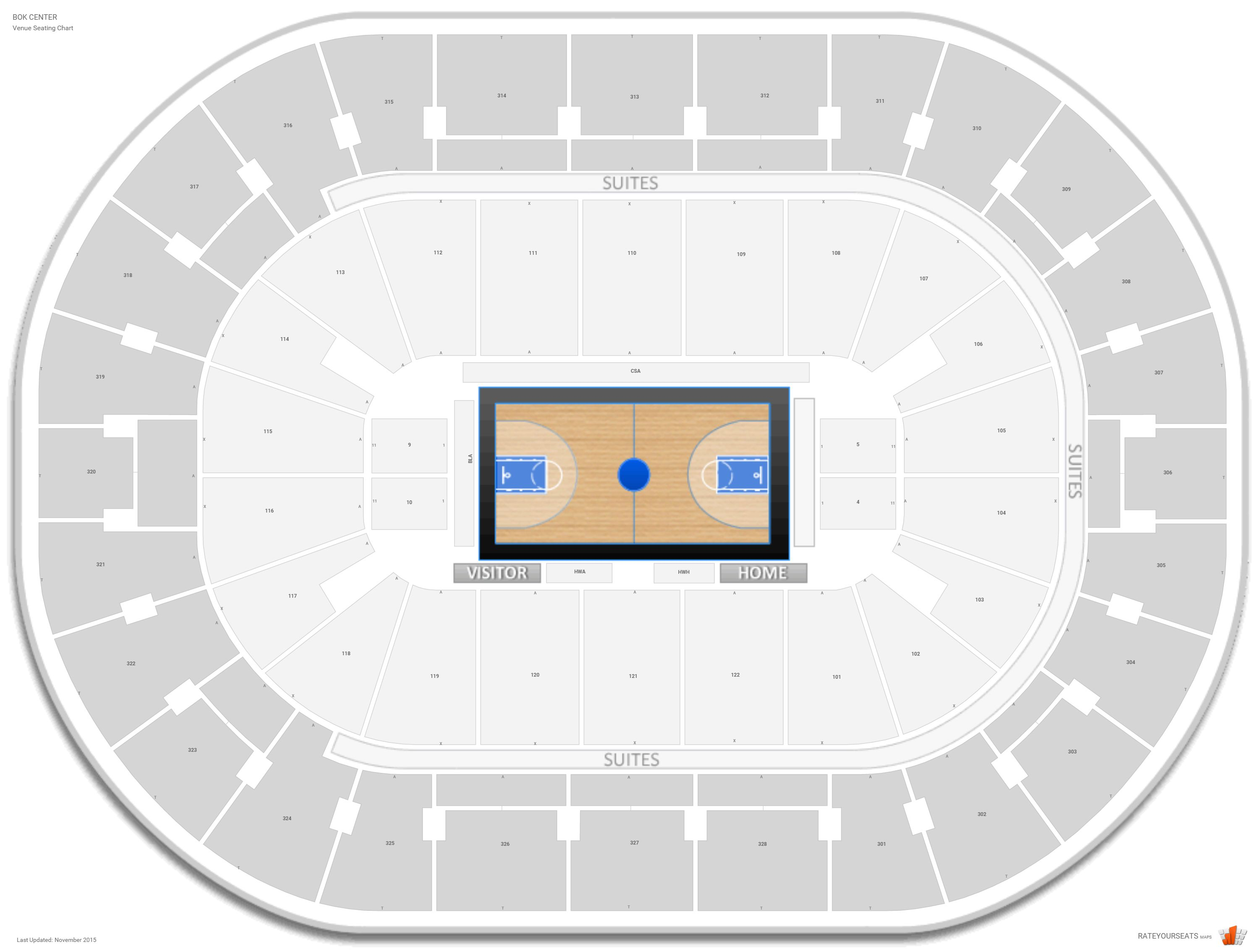 Bok Center Basketball Seating  Rateyourseats pertaining to Bok Center Seating Chart