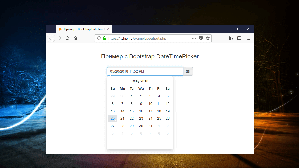 Bootstrap 3 Datetimepicker  Календарь Для Input | Ит Шеф regarding Glyphicon-Calendar Not Showing