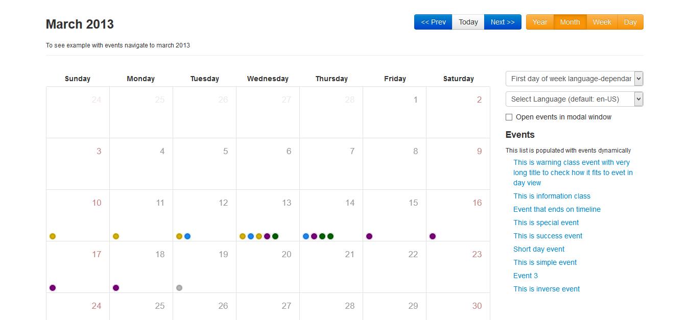 Bootstrap Calendar | Drupal with regard to Bootstrap 4 Calendar Icon