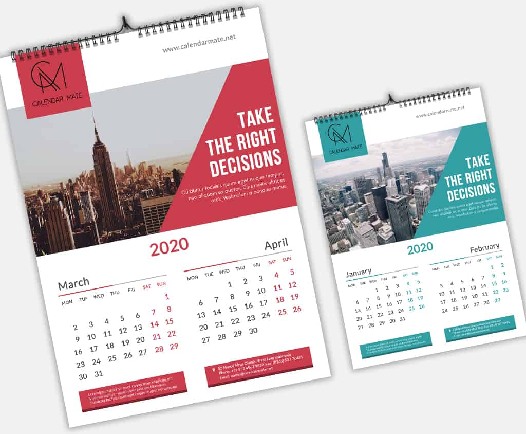 Brick: Creative Wall Calendar Design 2020 Template Psd File inside 2020 Calendar Psd File