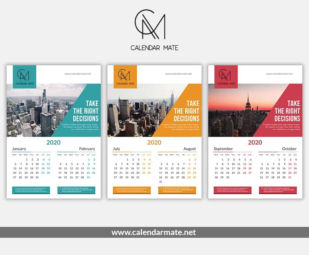 Brick Is A Free Creative Calendar Design Psd File Complete intended for 2020 Calendar Psd File