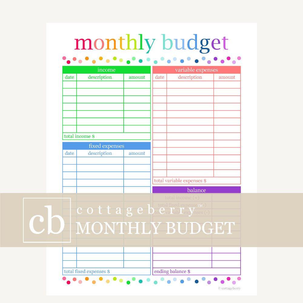 Budget Planner, Budget Printable, Bill Organizer, Budget throughout Printable Bill Organizer