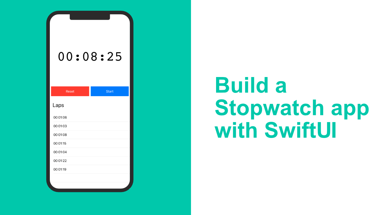 Build A Stopwatch App With Swiftui for Swiftui Countdown Timer