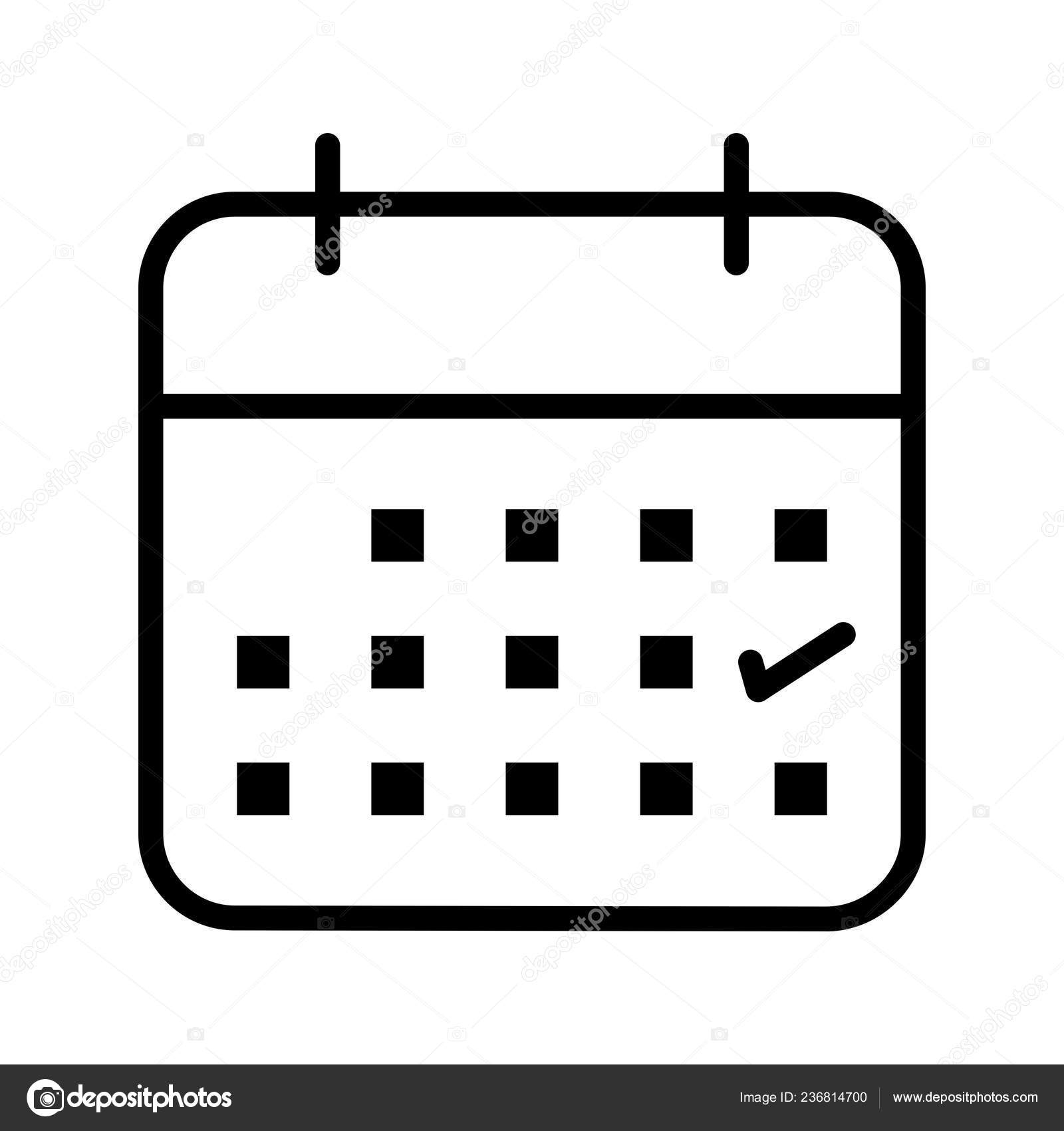 Business Calendar Vector Icon Sign Icon Vector Illustration inside Icon Calendar Vector