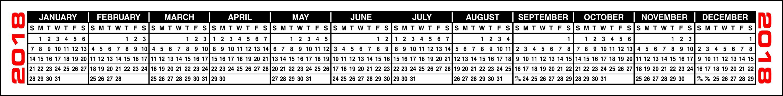 Buy 2020 Designery Calendar Strips with Keyboard Calendar Strips 2020