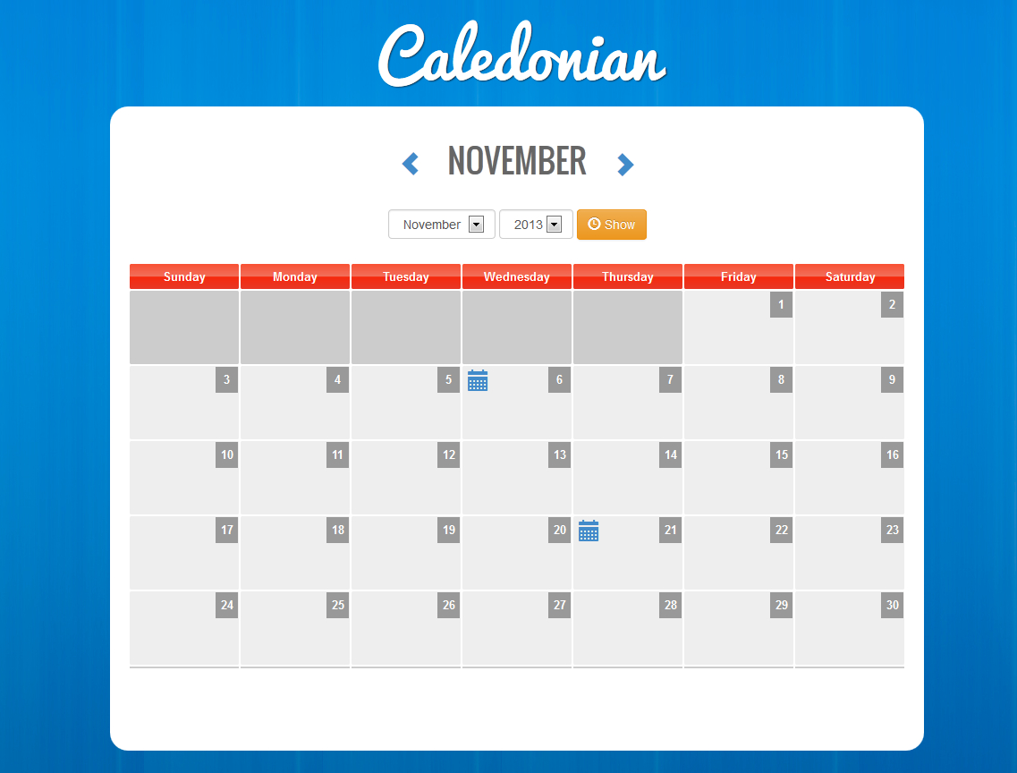 Caledonian Php Event Calendar within Php Calendar Event Scheduler Code