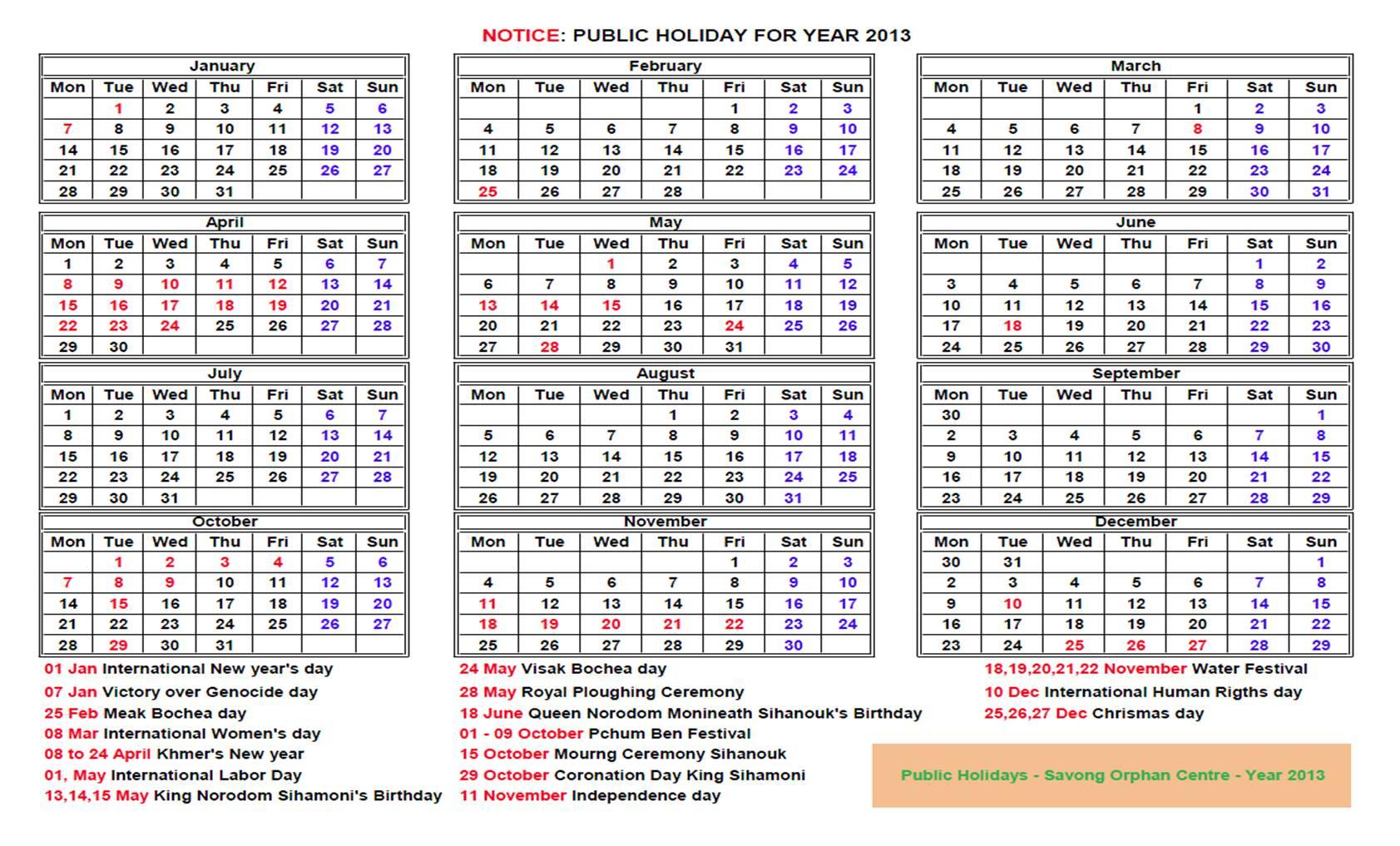 Calendar 2014 Khmer throughout Khmer Calendar 2016