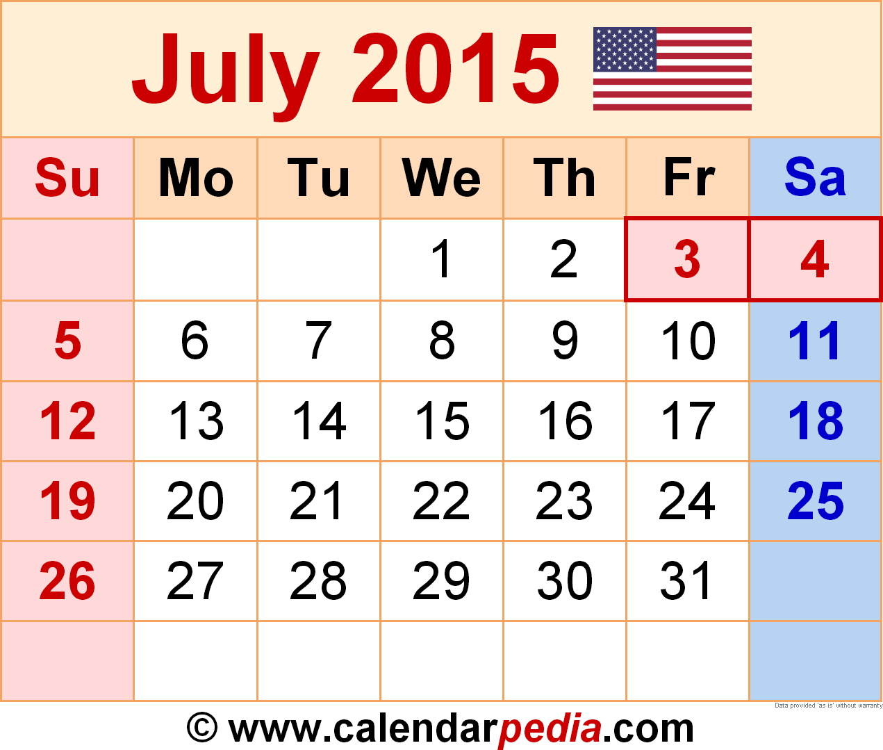 Calendar 2015 July  Bolan.horizonconsulting.co within Printable Monthly Calendar 2015