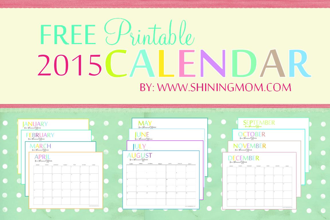Calendar 2015 Printable Kenya | Calendar 2017 Print in Printable Monthly Calendar 2015