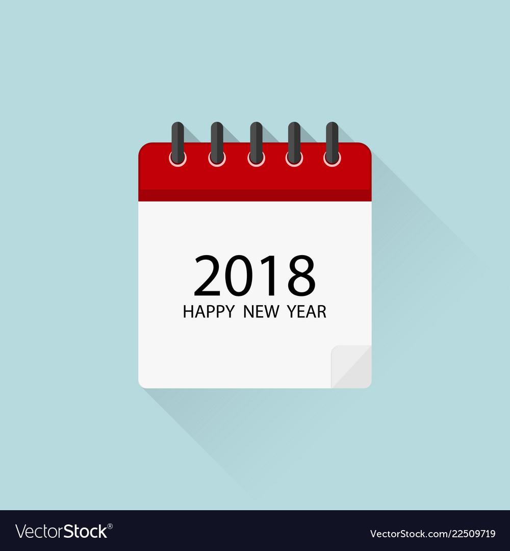 Calendar 2018  Icon Calendar In Flat Design With within Calendar Flat Design