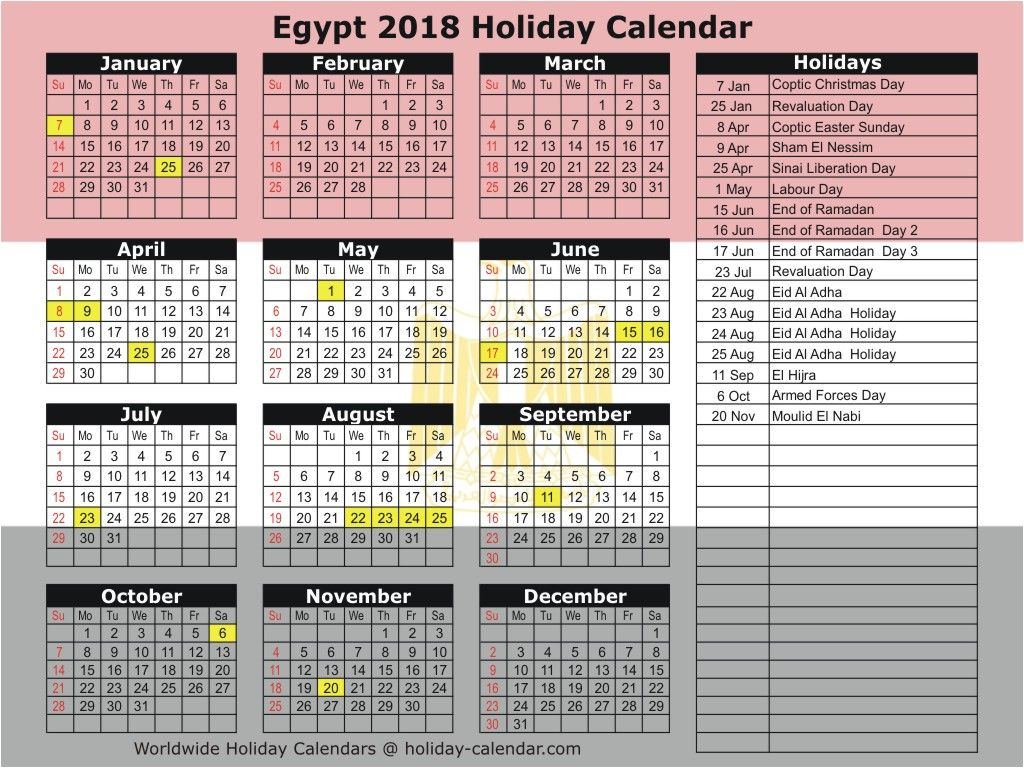 Calendar 2019 In Egypt   Yahoo Image Search Results throughout National Day Calendar At A Glance