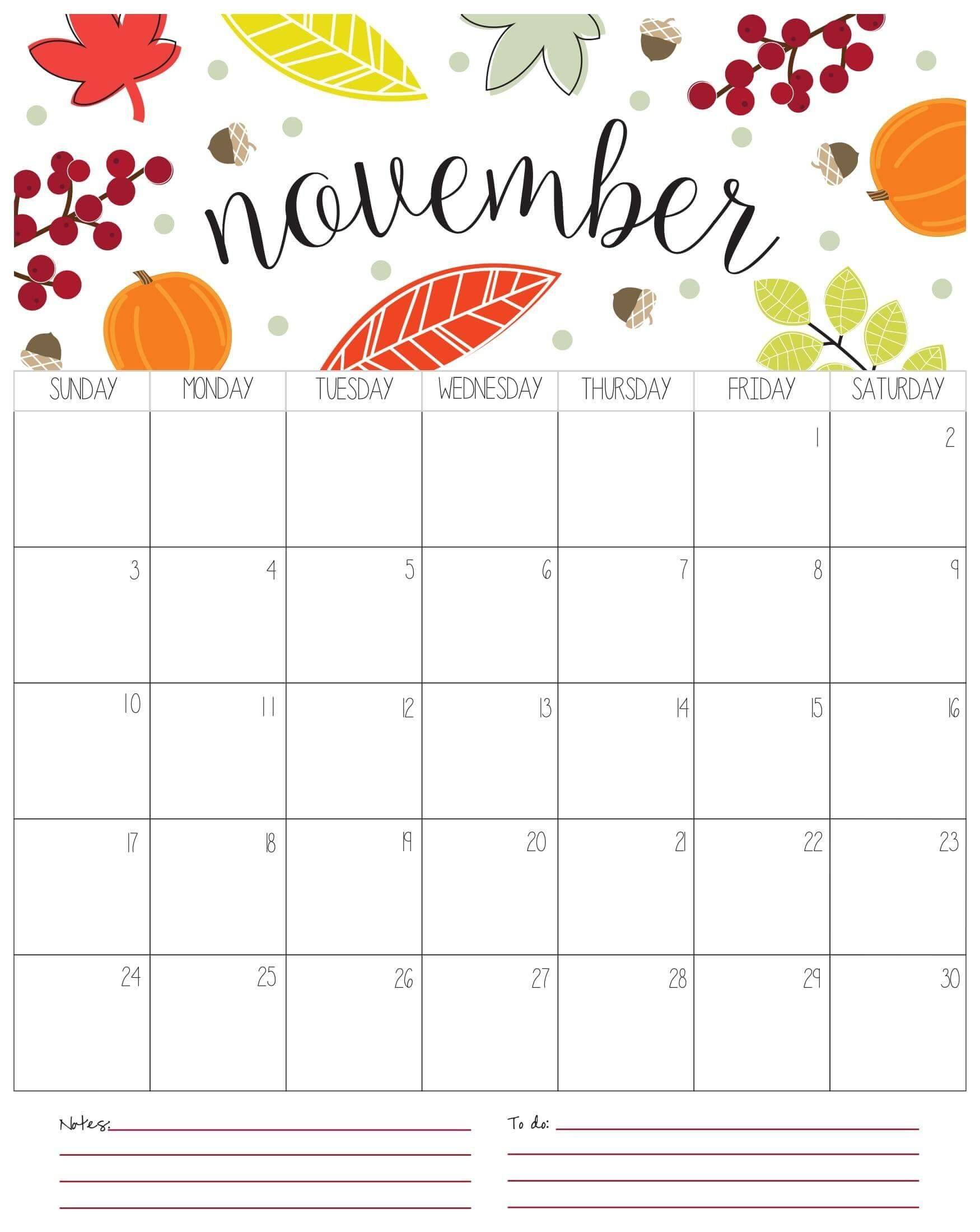 Calendar 2019 November Word | Free Printable Calendar throughout Free Printable Due Date Calendar