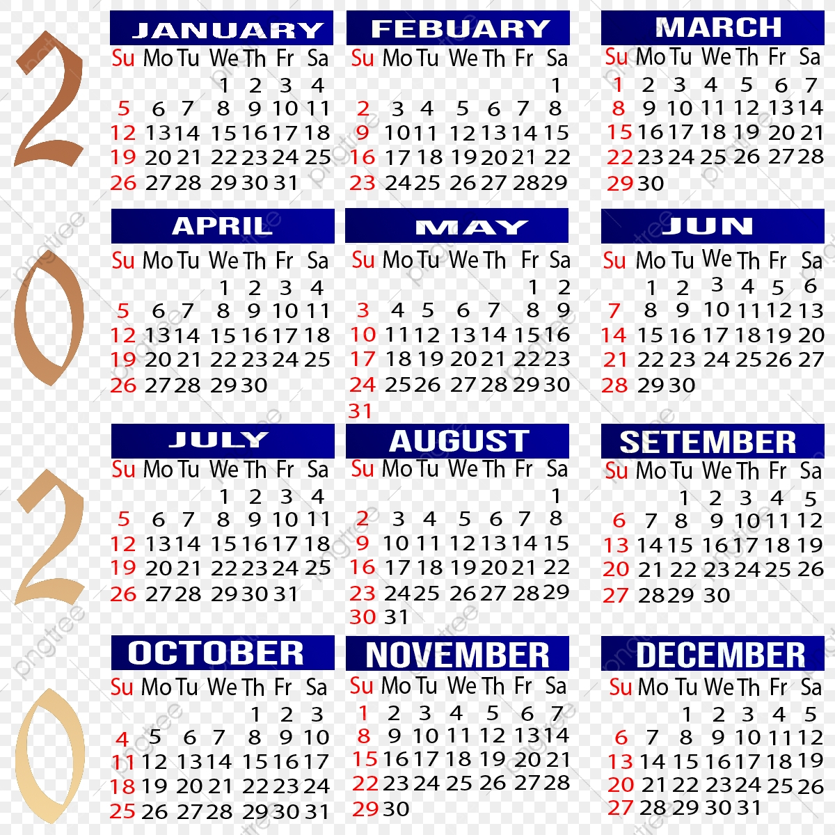 Calendar 2020, Calendar, Calendar, Year Png Transparent intended for 2020 Calendar Psd File